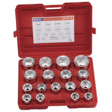 "Genius Tools Metric 1"" Drive Hand 6 Point Socket 17 Pc Set GS-817M"