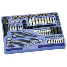 "Genius Tools SAE 1/4"" & 1/2"" Drive Master 6 & 12 Point Tool 100 Pc Set MS-100S"