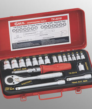 Genius Tools Star Hand Socket 19 Pc Set TX-2319