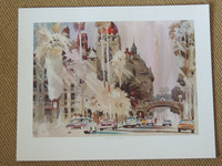 Vintage Lithograph - Noon Light Mission Inn