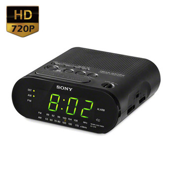 720p hd motion activated alarm clock radio hidden camera clearlight security. Black Bedroom Furniture Sets. Home Design Ideas