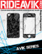 Avik series iPhone wrap. Choose your own motocross sponsors for your own custom iPhone graphics.