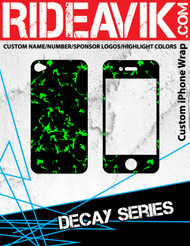 Avik mx graphics Decay series iPhone wrap. Choose your own motocross sponsors for your own custom iPhone graphics.