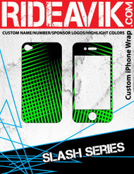 Avik mx graphics Slash series iPhone wrap. Choose your own motocross sponsors for your own custom iPhone graphics.
