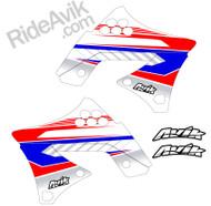 Kawasaki Kudla ISDE13 Red/White/Blue non custom shroud decals