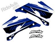 Yamaha Kudla ISDE13 blue non custom shroud decals