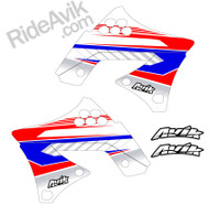 Kawasaki Kudla ISDE13 Red/White/Blue custom shroud decals
