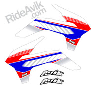 KTM Kudla ISDE13 Red/White/Blue custom shroud decals