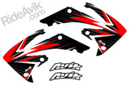 Shown in Red, White, and Black.  Customize with your choice of colors.