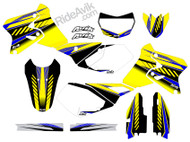 Customize these Suzuki graphics with your choice of sponsor logos, highlight colors, and pre printed number plate details.
