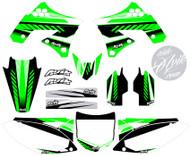 Kawasaki Kudla ISDE13 Green Series Non Custom Graphic Kit