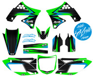 Kawasaki Balt Series Blue Green Non Custom Graphics