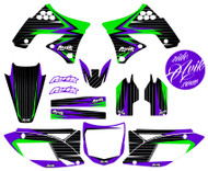 Kawasaki Balt Series Purple Green Non Custom Graphics