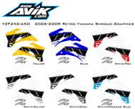 2006-2009 YZF250/YZF450 Yamaha Retro Style Shroud Graphics