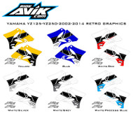 2002-2014 YZ125/YZ250 Yamaha Retro Custom Shroud Graphics