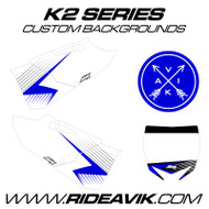 Yamaha K2 Series Backgrounds Blue/White/Silver highlight