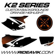 KTM K2 Series Custom Backgrounds Orange Highlight