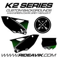 Kawasaki K2 Series Custom Backgrounds Kawi Green/Grey/Black highlight