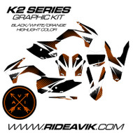 KTM K2 Series Custom Graphic Kit Orange Highlight