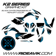 KTM K2 Series Custom Graphic Kit Process Blue Highlight