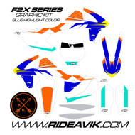 KTM F2X Blue Custom Graphic Kit