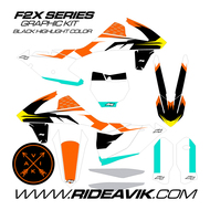 KTM F2X Black Custom Graphic Kit