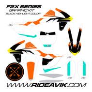 KTM F2X Black Custom Graphic Kit