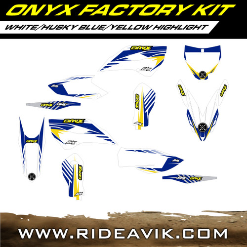 Husqvarna Onyx Factroy Series Semi Custom Graphic Kit