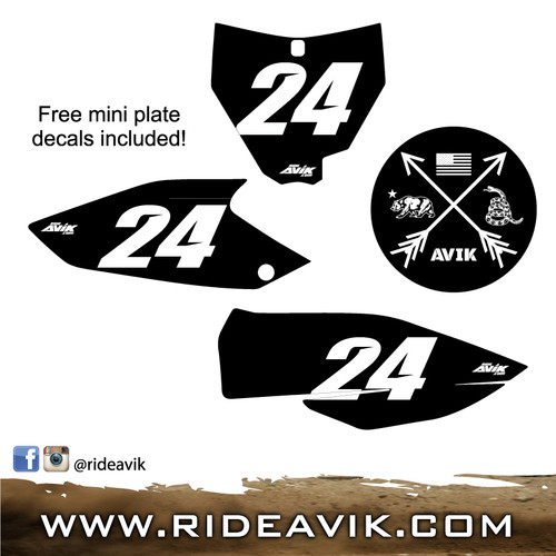 customize background color, number color, number and free mini plates included!