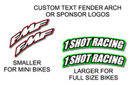 Custom Front Fender Arch Decals