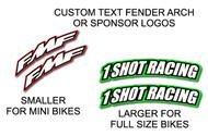 Custom Front Fender Arch Decals