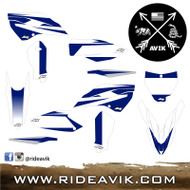 Husqvarna Kudla Factory Edition Custom Graphic Kit White/Blue