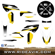 Husqvarna Kudla Factory Edition Custom Graphic Kit White/Black/Yellow