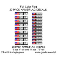 Custom Full color flag name decals