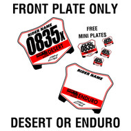 Front plate only District 37 Plus free mini plates!
