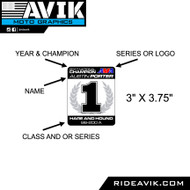 "Champion decals 3""x3.75"""