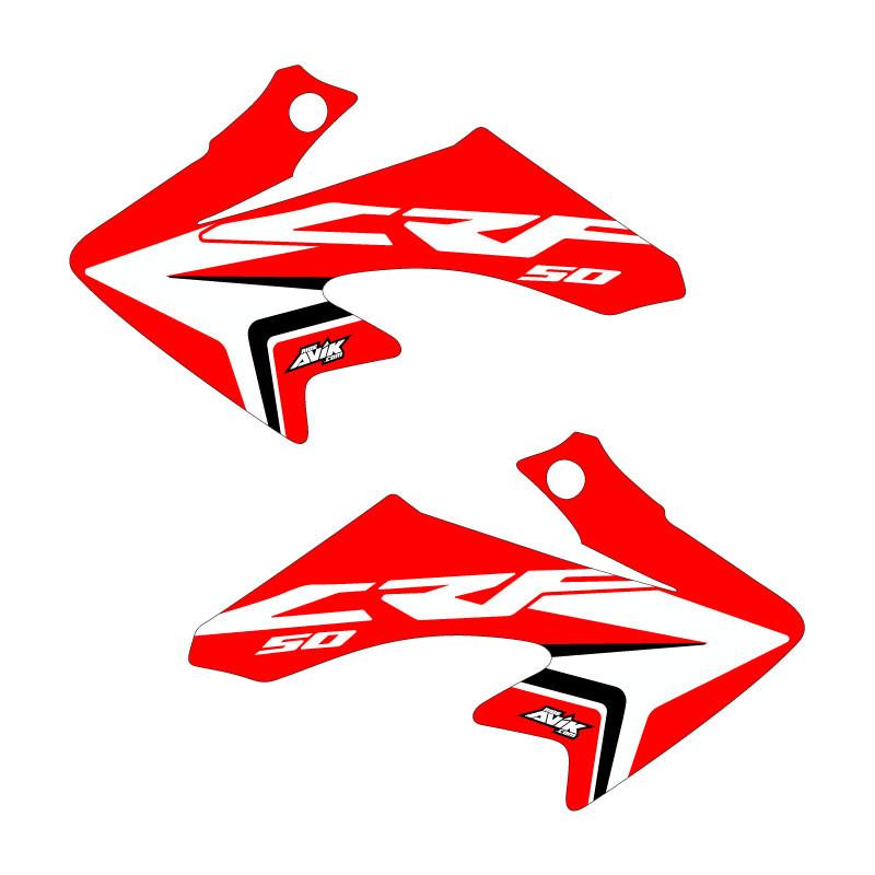 Honda CRF50 oem style Red Shroud Graphics