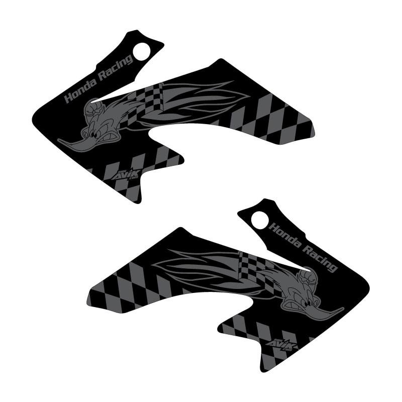 CRF50 Shroud Graphics Woody Black Style
