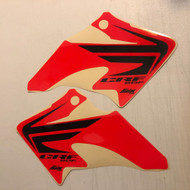 CRF50 Wing Shroud Graphics Red Background