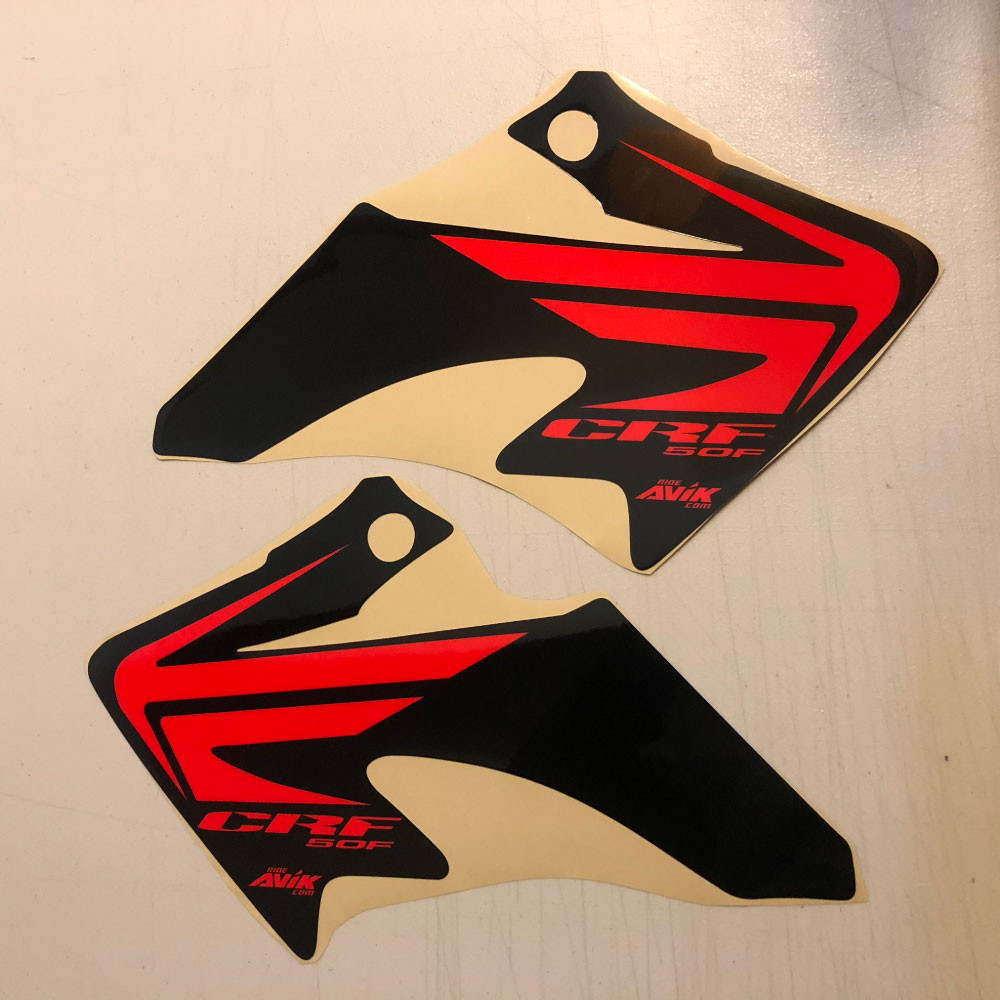 CRF50 Wing Style Shroud Graphics Black Background