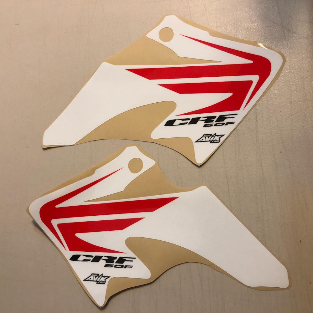 CRF50 Wing Style Shroud Graphics White Background