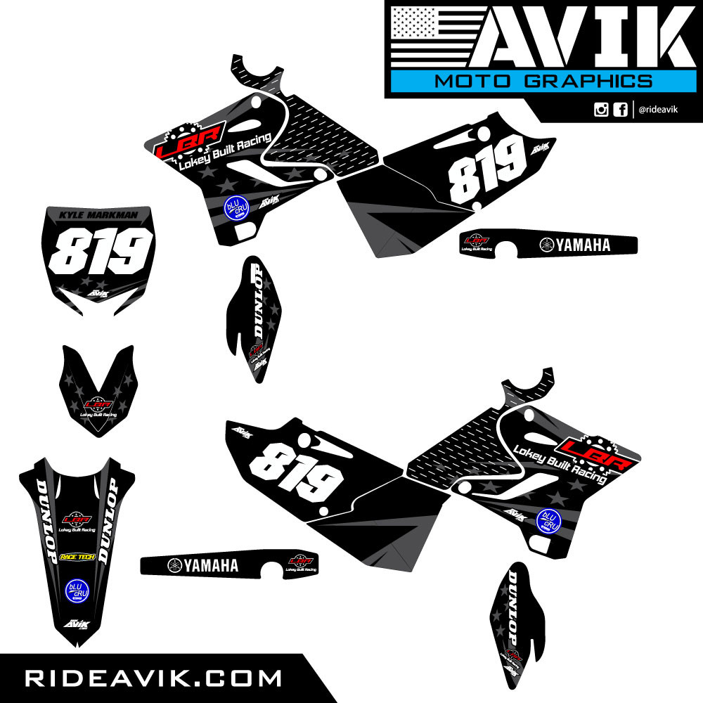 Yamaha Gray Flag Custom Graphic Kit