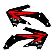 CRF450x 2005-2016 Stock replica Shroud graphics style Black/red