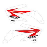CRF450x 2005-2016 Stock replica Shroud graphics style White/Red