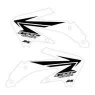 CRF450x 2005-2016 Stock replica Shroud graphics style White/Black