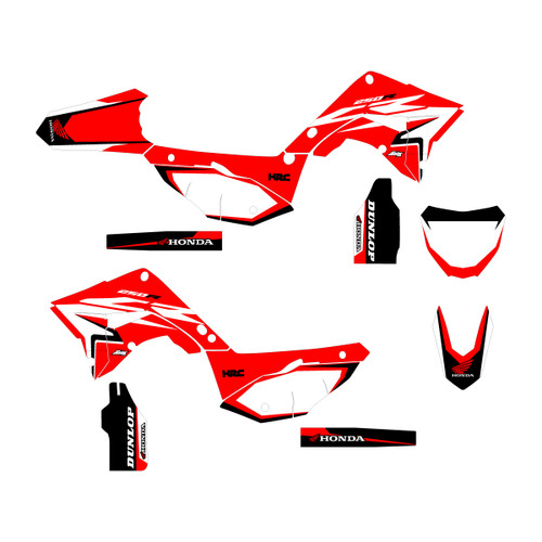 Honda OEM replica updated design with a red highlight.