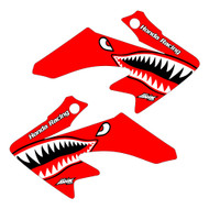 CRF50 bomber shroud graphics red