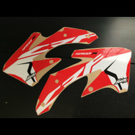 CRF450x oem updated shroud graphics red
