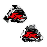 XR250 XR400 96-04 Camo Shrouds Red XR logo