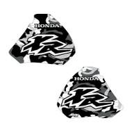 XR250 XR400 96-04 Camo Shrouds black/white XR logo